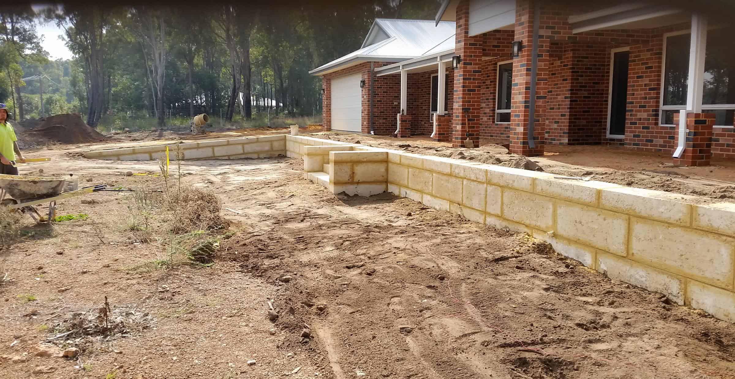 Garden retaining walls | Limestone walls Perth